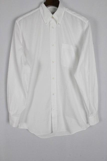 エルメス [ HERMES ] セリエ ボタンダウン シャツ ホワイト 長袖 SIZE[37 14・1/2] メンズ トップス カジュアルシャツ シャツ