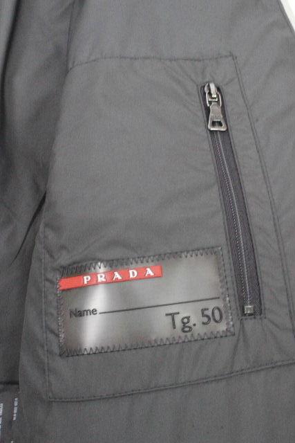 プラダスポーツ [ PRADA SPORT ] フード ダウンジャケット グレー SIZE[50] メンズ プラダ ダウンコート パーカー