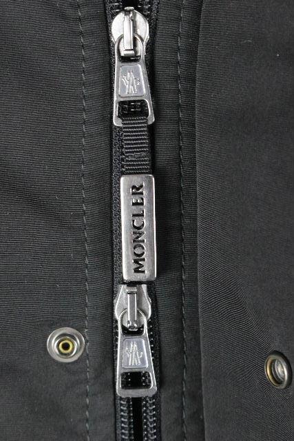 モンクレール [ MONCLER ] 2WAY フード ダウンジャケット ブラック 黒 SIZE[2] メンズ ダウンコート パーカー デカワッペン