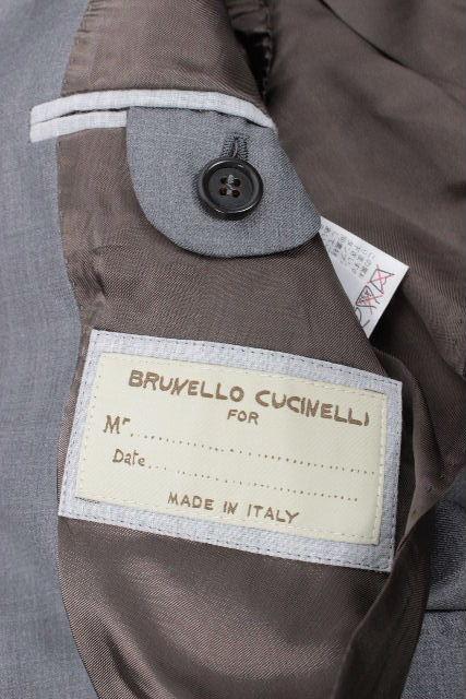 ブルネロクチネリ [ BRUNELLO CUCINELLI ] 2B シングル ウール スーツ グレー SIZE[44] メンズ クチネリ ジャケット スラックスパンツ
