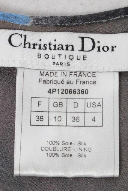 クリスチャンディオール [ ChristianDior ] HipHop ロゴ シルクシフォン ワンピース レディース ディオール リボン ワンピ