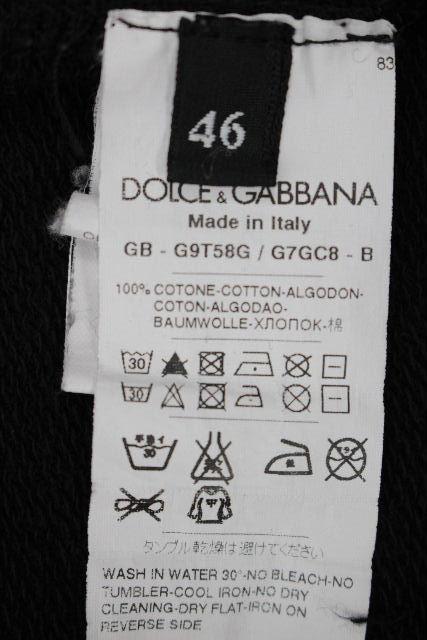ドルチェ&ガッバーナ [ DOLCE&GABBANA ] プレート ジップアップ ジャージ ブラック 黒 SIZE[46] メンズ ドルガバ トップス トレーナー パーカー パーカ