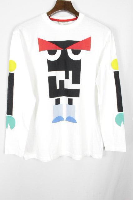 フェンディ [ FENDI ] モンスター ロンT ホワイト 白 長袖 SIZE[XS~S相当] フェンディ トップス Tシャツ カットソー 長袖