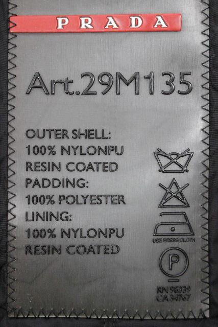 プラダ [ PRADA ] プレート ショート丈 ナイロンブルゾン ブラック 黒 SIZE[46] メンズ フード パーカー ジャンパー ジャンバー