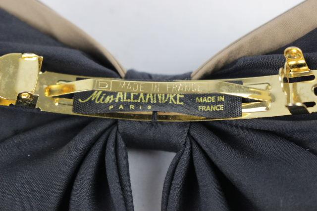 アレクサンドルドゥパリ [ Miss ALEXANDRE ] バイカラー ビッグ リボン バレッタ ブラック 黒 レディース アレク ヘアアクセサリー ヘアアクセ