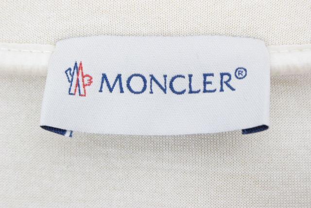 モンクレール [ MONCLER ] ダイバー素材 フリル ボンディング プルオーバー SIZE[L] レディース トップス カットソー ホワイト 白