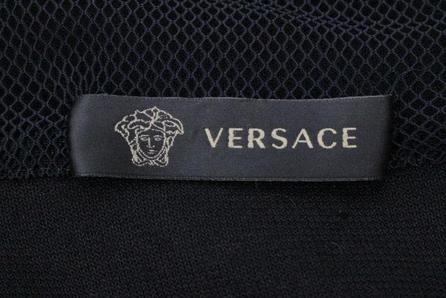 ヴェルサーチェ [ VERSACE ] メドゥーサ ベロア セットアップ ジャージ 黒 SIZE[M L] メンズ ヴェルサーチ パーカー パンツ