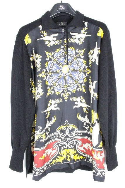 エトロ [ ETRO ] スカーフ ニット セーター ブラック 黒 長袖 SIZE[44] レディース トップス プルオーバー ブラウス