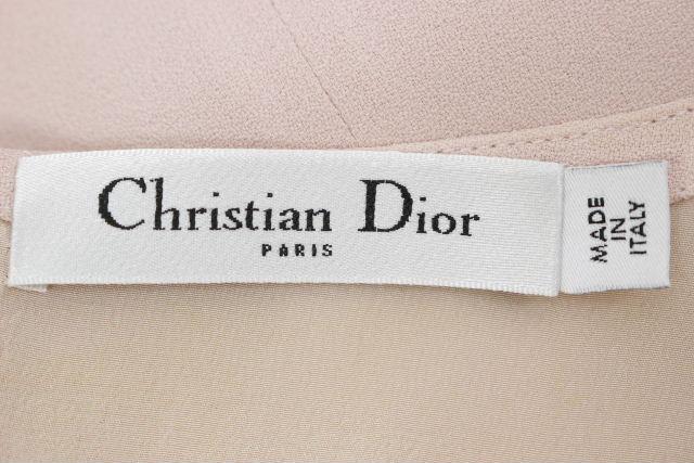 クリスチャンディオール [ ChristianDior ] フリル ノースリーブ ワンピース ピンク レディース ディオール ワンピ