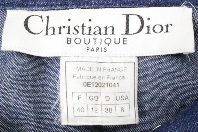クリスチャンディオール [ ChristianDior ] CDバックル デニムジャケット レディース ディオール ジージャン Gジャン