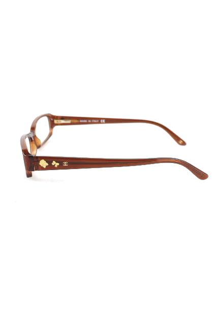 シャネル [ CHANEL ] CC カメリア リボン 眼鏡フレーム ブラウン [ 3145 1087 ] レディース 伊達眼鏡 めがね メガネ サングラス