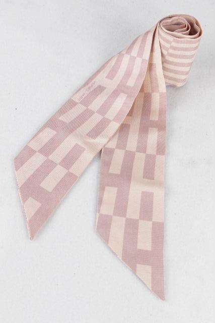 エルメス [ HERMES ] Hロゴ トゥイリー ピンク シルク リボン スカーフ ツイリー トゥイーリー ★化粧箱付★