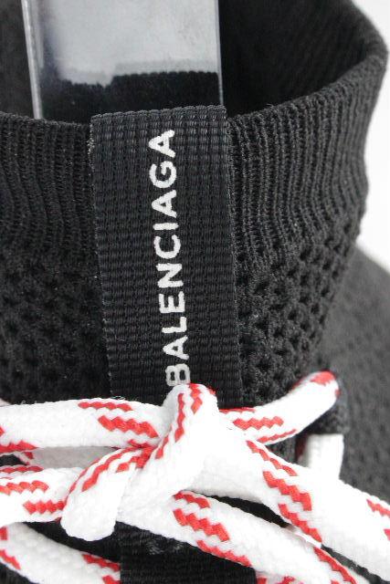 バレンシアガ [ BALENCIAGA ] 18AW レースアップ スピードトレーナー ブラック SIZE[40] メンズ ソックススニーカー スニーカー