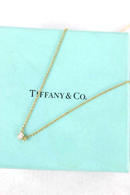 ティファニー [ TIFFANY ] 1Pダイヤ バイザヤード イエローゴールド ネックレス レディース 3.8mm K18YG