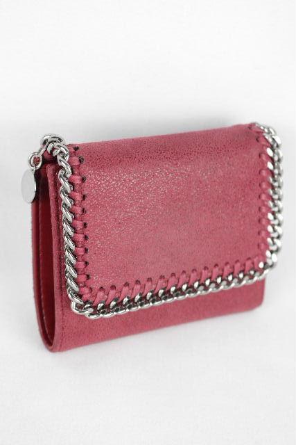 ステラマッカートニー [ Stella McCartney ] ファラベラ 三つ折り 財布 レッド 赤系 レディース ステラ コンパクト ミニ財布