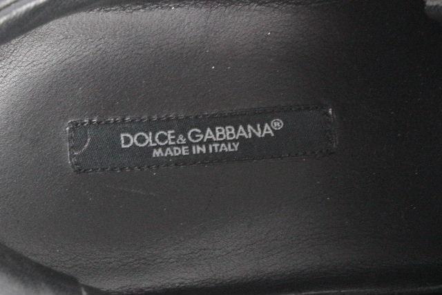 ドルチェ&ガッバーナ [ DOLCE&GABBANA ] ラメ ローカット スニーカー ブラック 黒 SIZE[7.5] メンズ ドルガバ シューズ