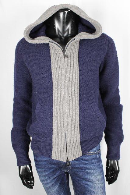 モンクレール [ MONCLER ] ジップアップ ニット パーカー ネイビー 紺色 SIZE[M] メンズ アウター セーター