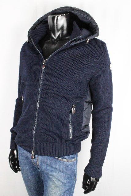 モンクレール [ MONCLER ] ダウン ニットパーカー ネイビー 紺色 SIZE[S] メンズ アウター セーター フード ダウンジャケット