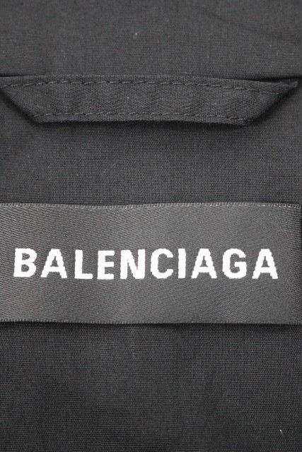 バレンシアガ [ BALENCIAGA ] 2018AW ロゴ ポプリン ブルゾン チェック柄 SIZE[44] メンズ アウター ジャケット ジャンバー ジャンパー