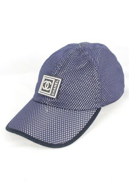 シャネルスポーツ [ CHANEL ] ココマーク メッシュ キャップ ネイビー 紺色 SIZE[M] レディース メンズ シャネル 帽子 帽