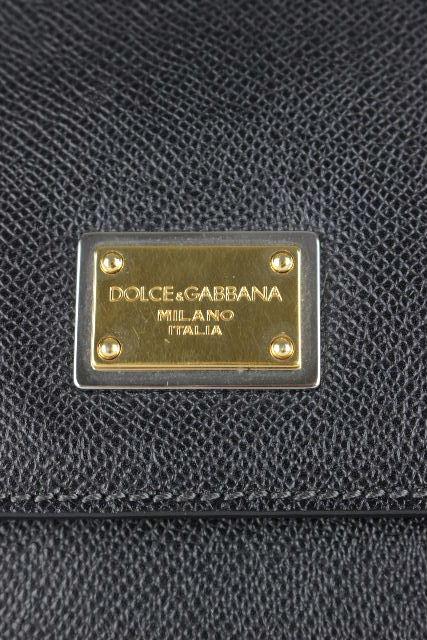 ドルチェ&ガッバーナ [ DOLCE&GABBANA ] 2WAY シシリー バッグ ブラック 黒×レオパード柄 レディース ドルガバ D&G ハンドバッグ ショルダーバッグ