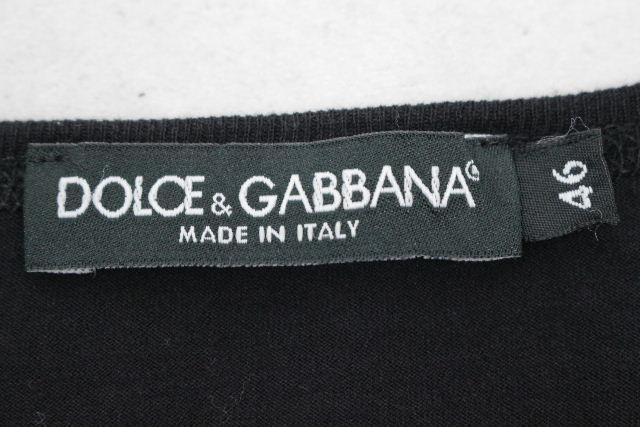 ドルチェ&ガッバーナ [ DOLCE&GABBANA ] ロゴ ロンT ブラック 黒 SIZE[46] メンズ ドルガバ トップス ロングTシャツ 長袖 カットソー