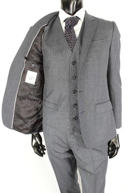 ドルチェ&ガッバーナ [ DOLCE&GABBANA ] ★3点セット★ MARTINI 2B ウール シングル スーツ[46] メンズ ドルガバ ジャケット パンツ ベスト ジレ