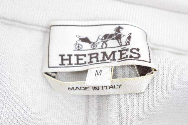 エルメス [ HERMES ] Hロゴ カシミヤ ニット パンツ グレー系 SIZE[M] メンズ ボトムス イージーパンツ リラックスパンツ