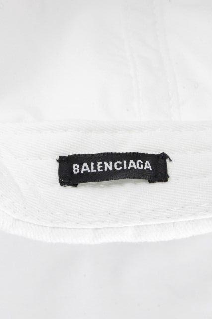 バレンシアガ [ BALENCIAGA ] ★正規品★ ロゴ ベースボール キャップ 白 SIZE[L 59m] メンズ レディース ホワイト 帽子 帽