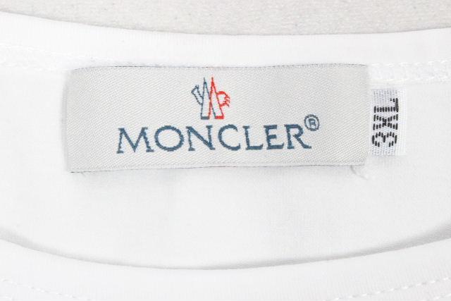 モンクレール [ MONCLER ] ワッペン ロンT ホワイト 白 SIZE[XXL] メンズ トップス ロングTシャツ カットソー 長袖