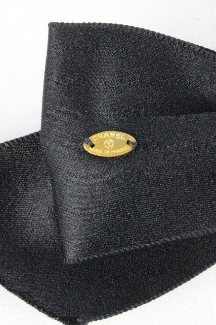 シャネル [ CHANEL ] ヴィンテージ ココマーク リボン バレッタ ブラック 黒 レディース ヘアクリップ ヘアアクセサリー ヘアアクセ