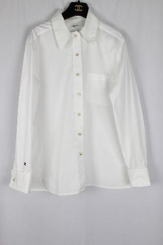 シャネル [ CHANEL ] ヴィンテージ ブラウス ホワイト 白 長袖 レディース ビンテージ トップス シャツ