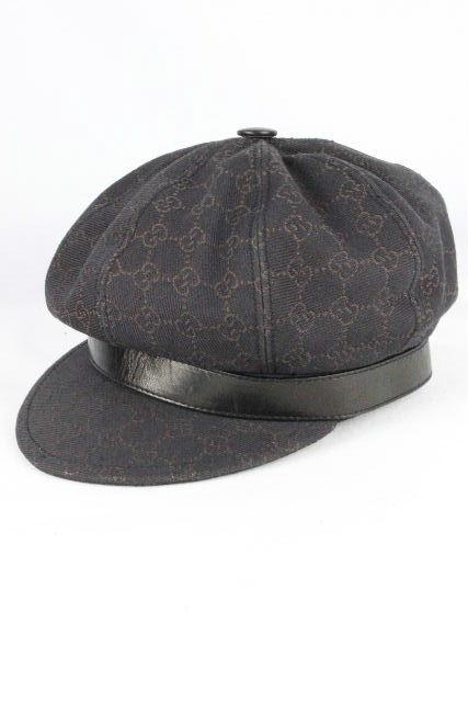グッチ [ GUCCI ] GG柄 キャスケット帽子 ダークブラウン 茶色 SIZE[M] メンズ レディース ハンチング 帽 帽子