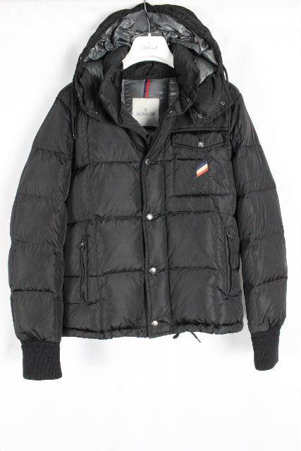 モンクレール [ MONCLER ] フード ダウンジャケット ブラック 黒 ALBAN アルバン SIZE[1] メンズ アウター パーカー ブルゾン ジャンパー コート