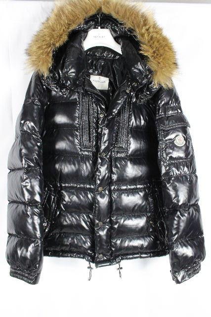 モンクレール [ MONCLER ] ファー フード ダウン コート ブラック 黒 ロッド ROD SIZE[2] メンズ アウター ダウンジャケット シャイニー パーカー