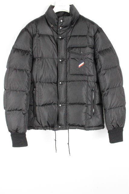 モンクレール [ MONCLER ] トリコロール ダウンジャケット アルバンALBAN SIZE[5] メンズ ダウンコート ブラック 黒