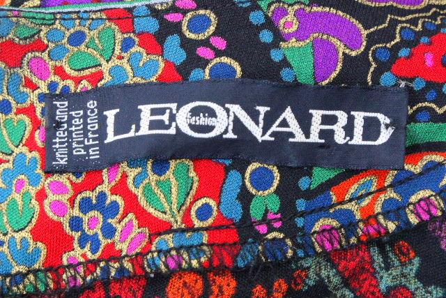 レオナール [ LEONARD ] ★フランス製★ スカーフ ワンピース ブラック 黒 SIZE[11AR] レディース ロング ワンピ