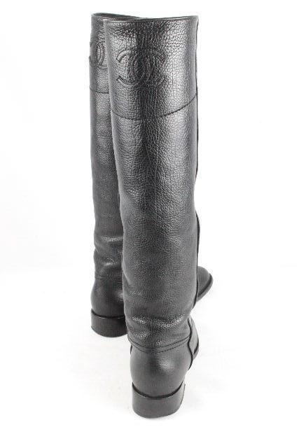 シャネル [ CHANEL ] 11A ココマーク レザー ロングブーツ ブラック 黒 SIZE[36.5] レディース ブーツ