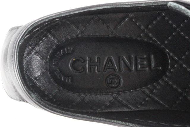 シャネル [ CHANEL ] ココマーク バイカラー スニーカー ブラック 黒 SIZE[35] レディース シューズ ローカットスニーカー