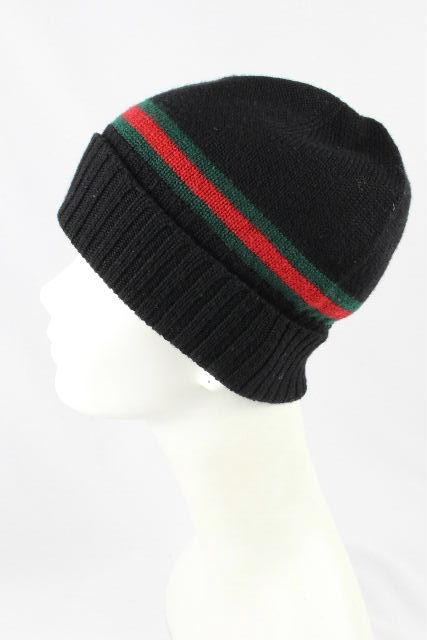 グッチ [ GUCCI ] シェリーライン ニット帽子 ブラック 黒 SIZE[XL] メンズ レディース ユニセックス 帽