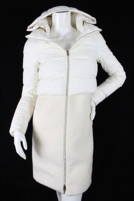 ヘルノ [ HERNO ] 切り替え フード ダウンジャケット ホワイト 白 SIZE[38] レディース アウター コート パーカー