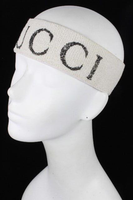グッチ [ GUCCI ] ケリングジャパン ロゴ ヘアバンド ベージュ系 メンズ レディース ターバン キャップ
