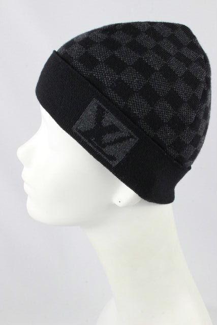 ルイヴィトン [ LOUISVUITTON ] LVロゴ ダミエグラフィット ニット帽子 ブラック [M75337] メンズ レディース ヴィトン ビトン ダミエ ニット帽 帽