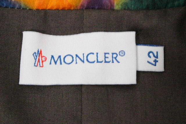 モンクレール [ MONCLER ] ナイロン ベルト フラワー フレアー ワンピース SIZE[42] レディース ワンピ 花柄