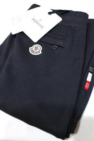 モンクレール [ MONCLER ] 19ss トリコロール ワッペン スエットパンツ ネイビー 紺色 SIZE[S] メンズ ボトムス ジャージ パンツ