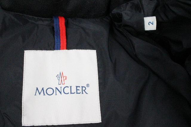 モンクレール [ MONCLER ] ウール フード ダウンジャケット モンジュネーブル ブラック SIZE[2] メンズ アウター ★エストネーション購入品★