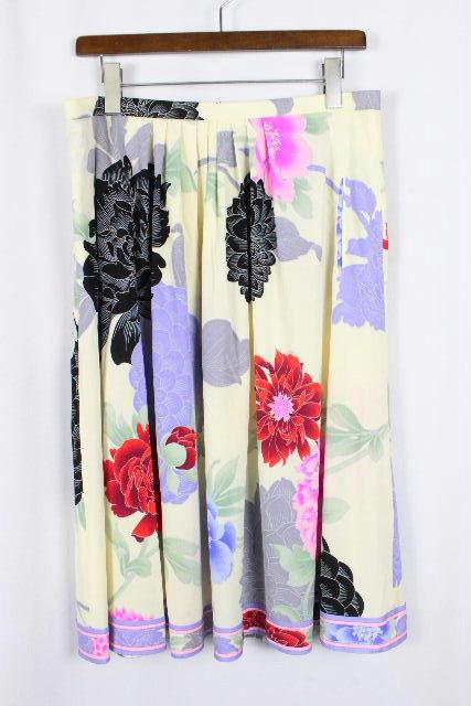レオナール [ LEONARD ] フラワー フレアースカート オフホワイト SIZE[42] レディース ボトムス スカート 花柄