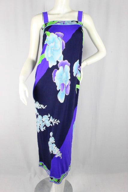 レオナール [ LEONARD ] フラワー ドレス ロング ワンピース ネイビー 紺色 SIZE[46] レディース ワンピ 花柄