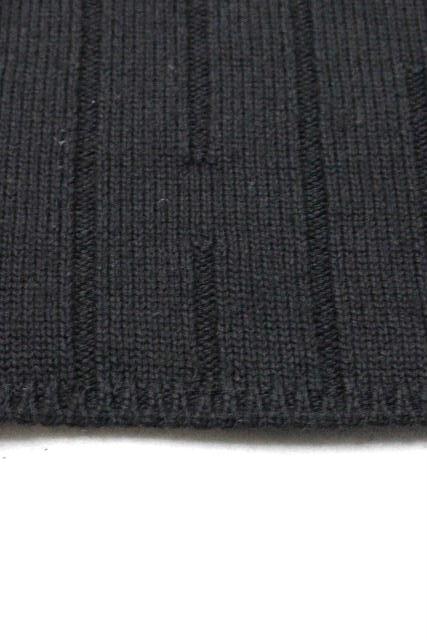 エルメス [ HERMES ] カシミヤウール デザインニット セーター ブラック長袖 SIZE[M] メンズ トップス 黒