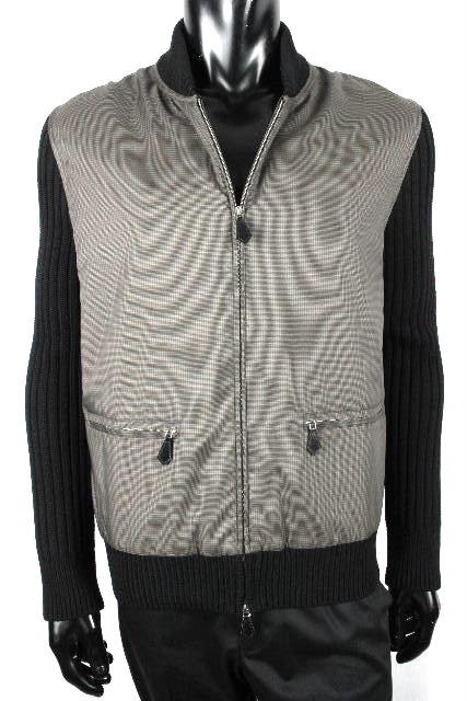 エルメス [ HERMES ] ジップアップ ニット ブルゾン ジャケット ブラック 黒 SIZE[S] メンズ アウター セーター ジャンパー